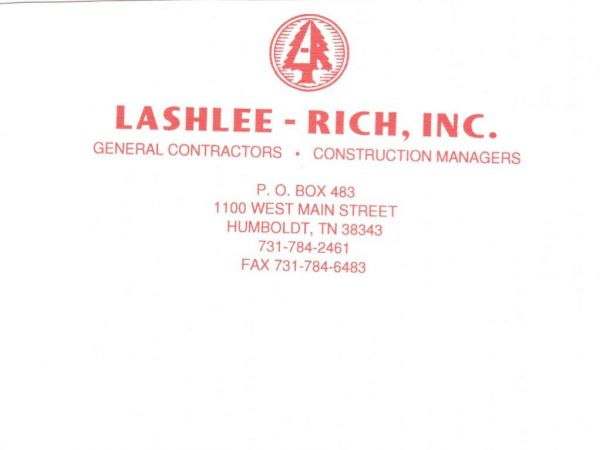 Lashlee-Rich, Inc - Greater Gibson County Chamber - Tennessee